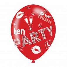 BALLOON  pk6 27cm Hen Party