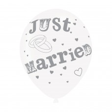 BALLOON  pk6 27cm Just Married