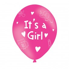 BALLOON  pk6 27cm It?'s a Girl