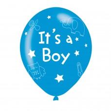 BALLOON  pk6 27cm It'?s a Boy