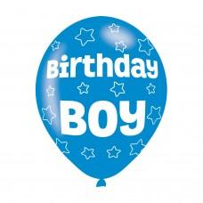 BALLOON  pk6 27cm Birthday Boy