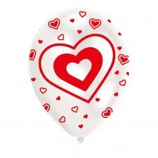 BALLOON  pk6 27cm Hearts
