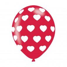 BALLOON  pk6 27cm Polka Hearts