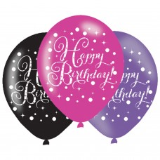 BAL 6pk 11 Inch Celebration Happy Bday