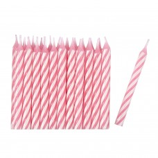 24 Candles pink/stripe