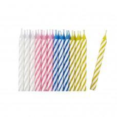 24 Candles asst./stripe