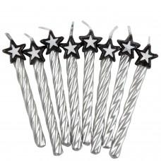 8 Candles silv. w. star