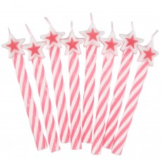 8 Candles pink w. star