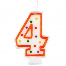 Candle num. 4 Polka Dots