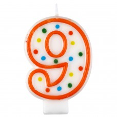 Candle num. 9 Polka Dots
