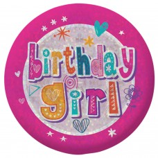 Badge Sml HoloG Happy BD Girl