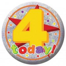 Badge Sml HoloG Happy 4th BD