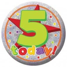 Badge Sml HoloG Happy 5th BD