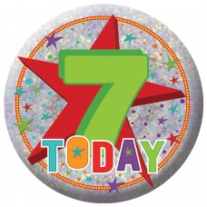 Badge Sml HoloG Happy 7th BD