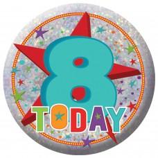 Badge Sml HoloG Happy 8th BD
