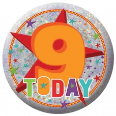 Badge Sml HoloG Happy 9th BD