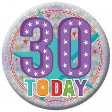 Badge Lge HoloG Hapy 30th BD