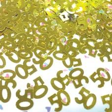 Confetti num 50 gold 14g met
