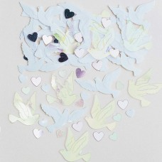 Confetti Wedd Doves 14g emb