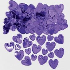 Confetti Lv Hrts purp 14g emb