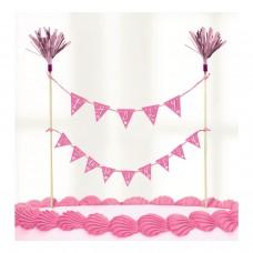 Communion Church Pink Cake Pick