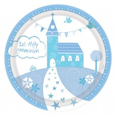 Communion Church Blue Plate 23cm