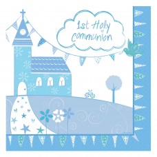 CommunionChurch Blue Napkin 33cm