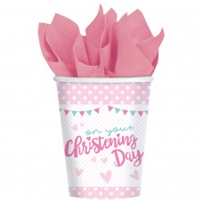 Christening Pink Cup 266ml