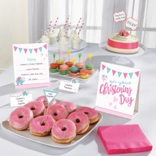 Christening Pink Buffet Kit