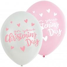 Christening Pink Balloons:6pk 11